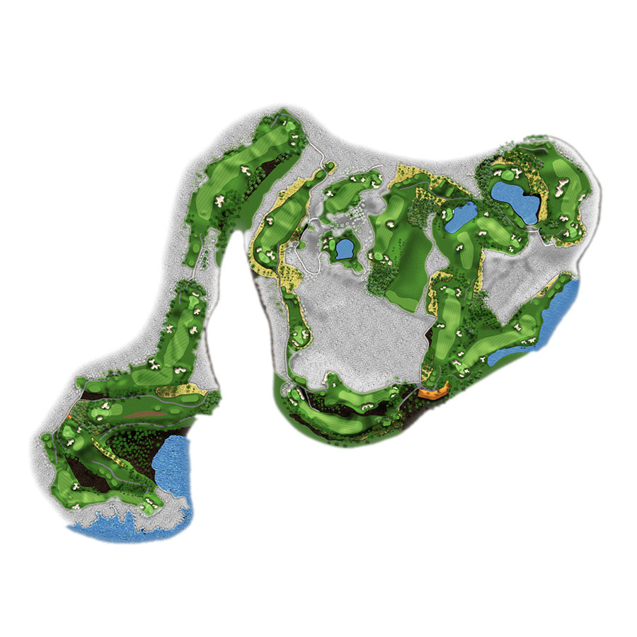 Waikoloa Beach Course Golf Map